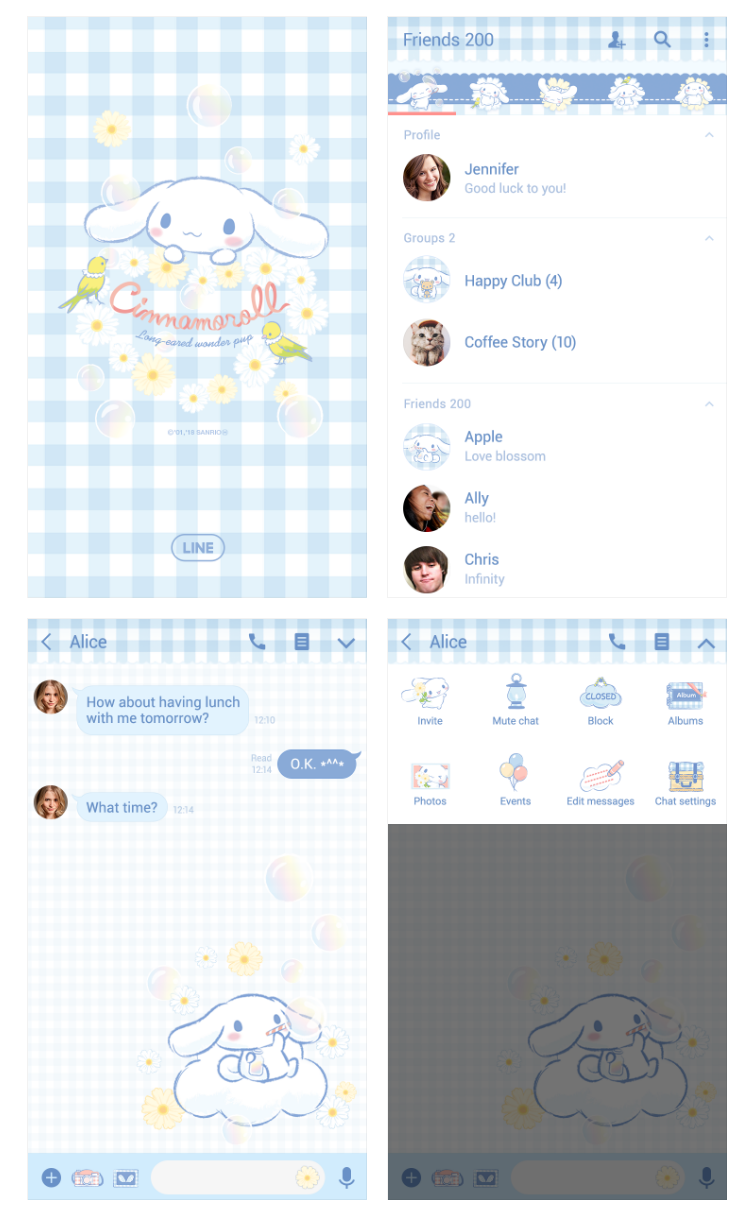 2 qtuuuh - Download Tema Line : Cinnamoroll: Daisy Flower