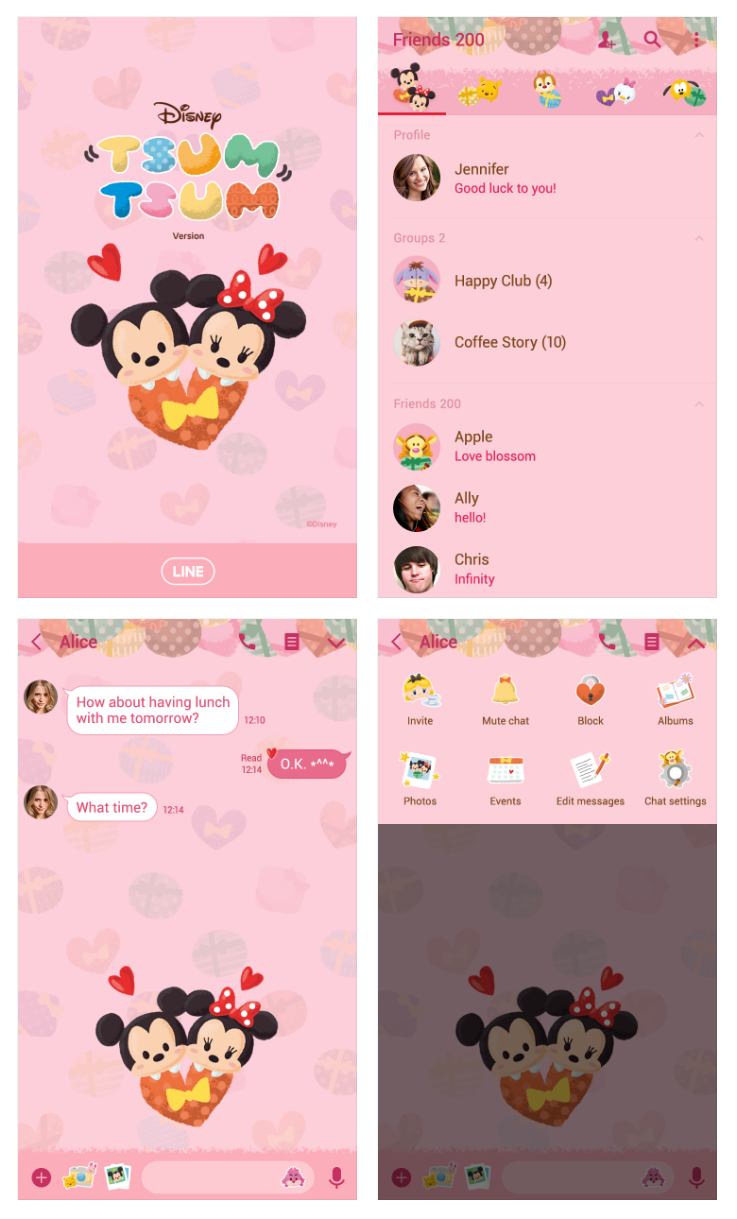 3 ooc6rc - Download Tema Line : Disney Tsum Tsum (Presents)