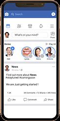 iphone con aplicación de facebook