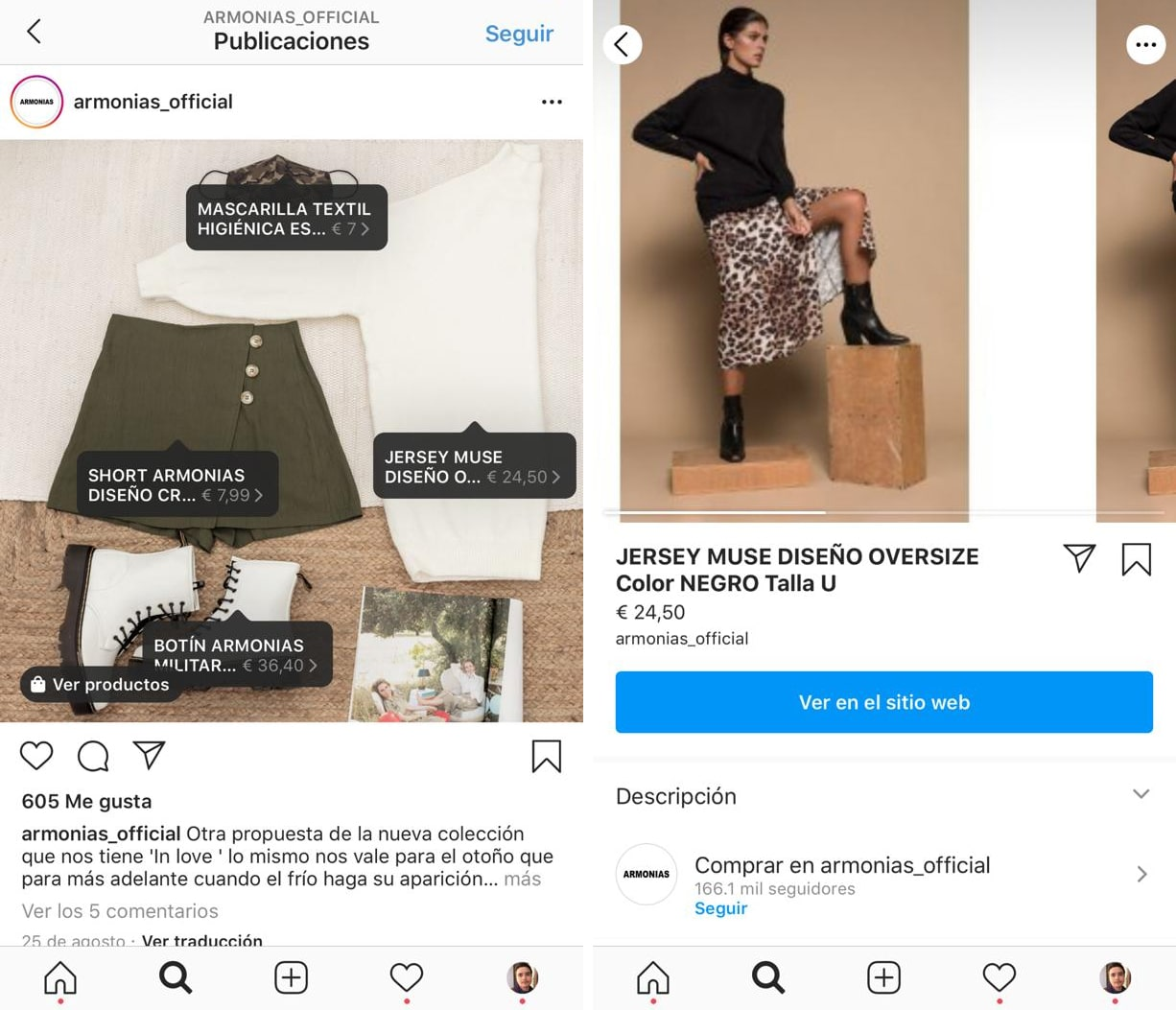 tienda de instagram