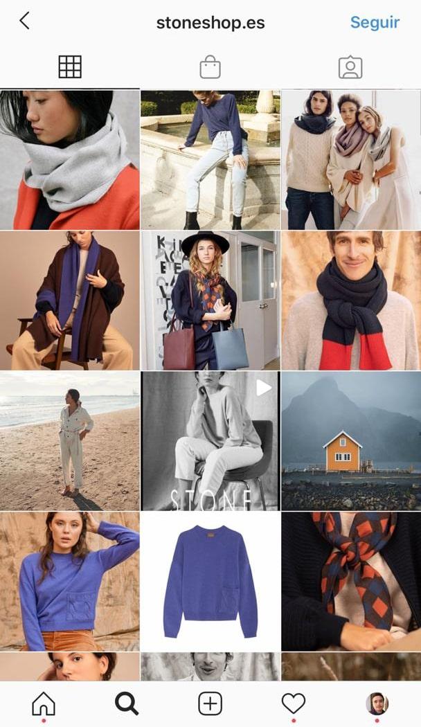 feed de tienda de instagram