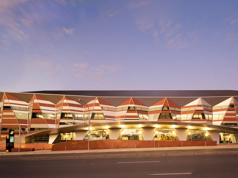 Adelaide Convention Centre at night