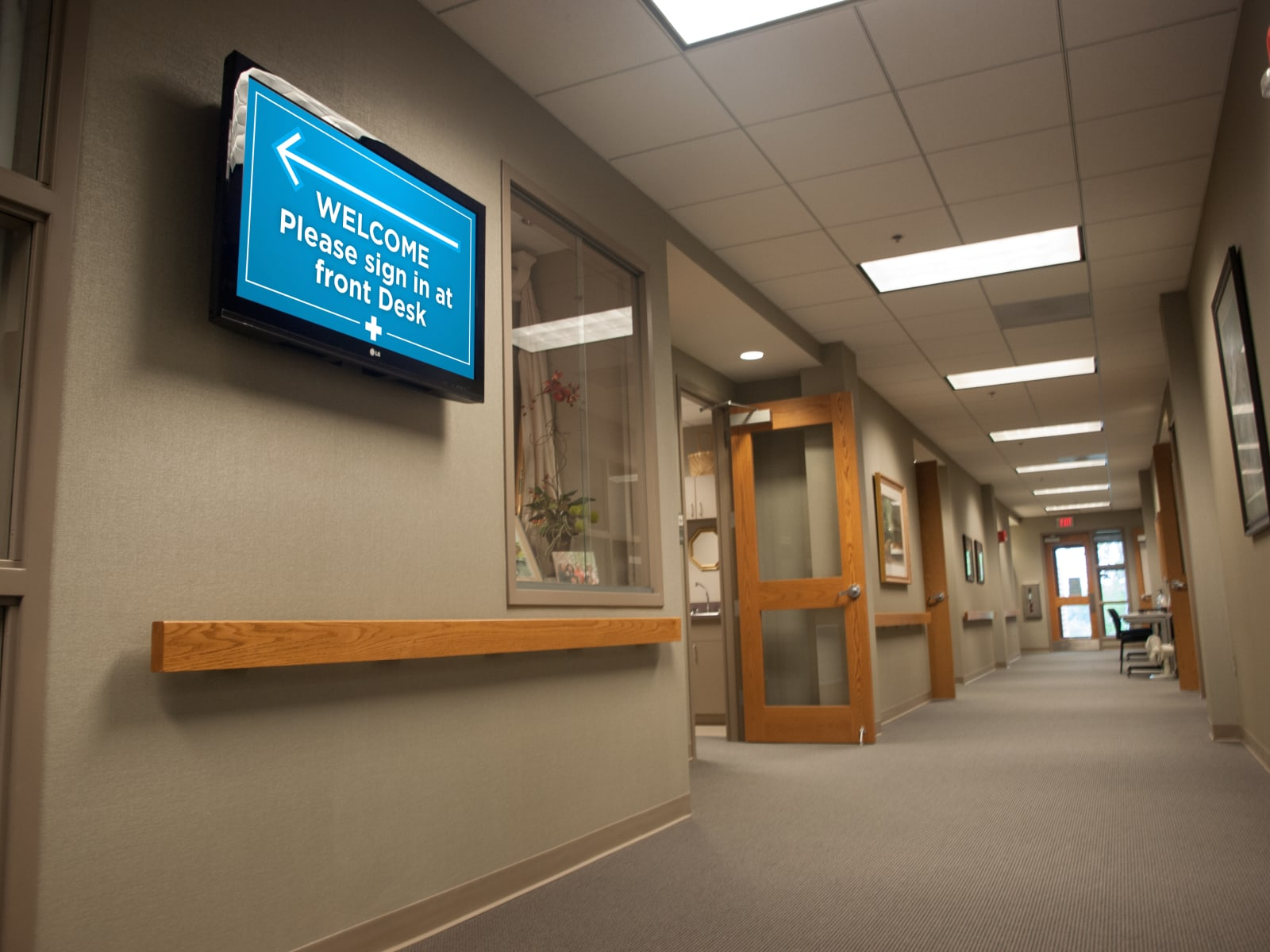 medical communication screen