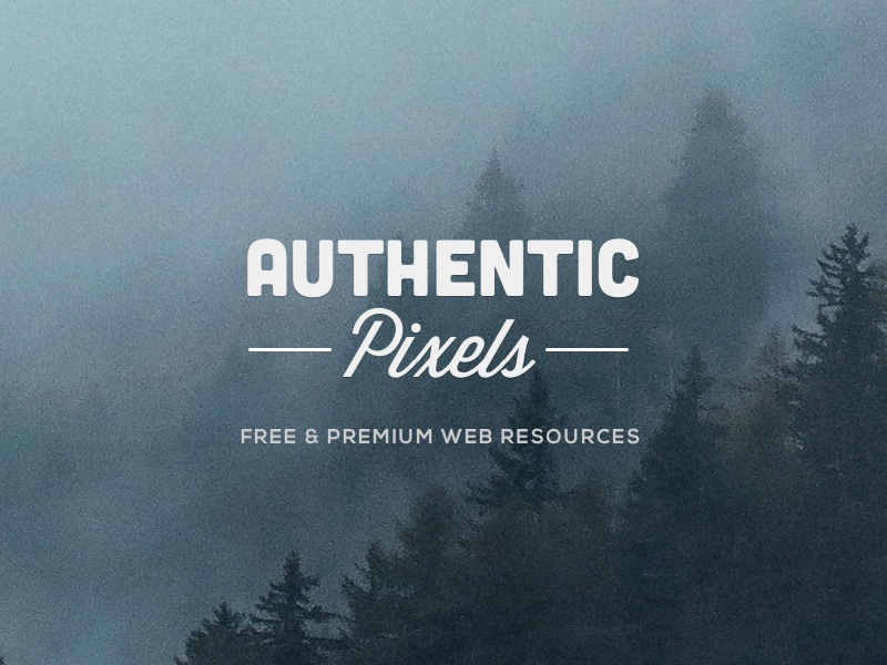 Introducing Authentic Pixels