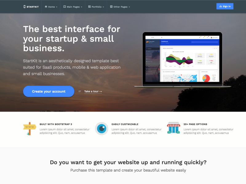 StartKit - Responsive Startup & Business Template