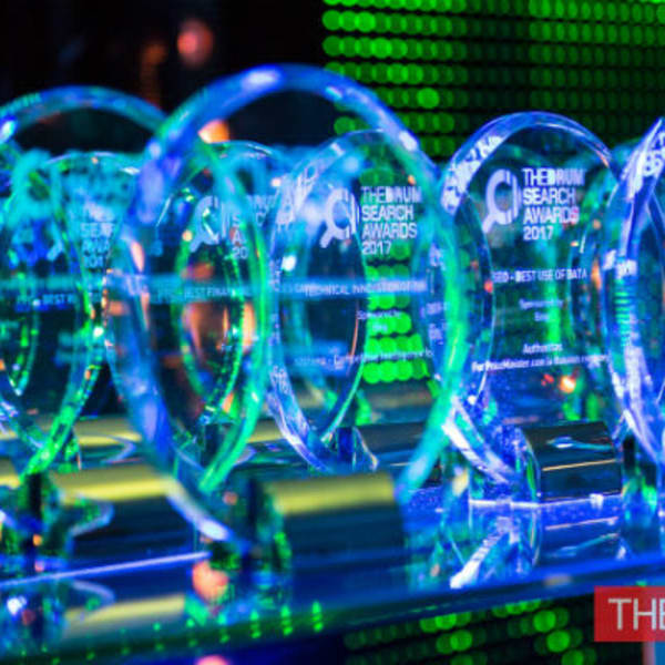 The Drum Search Awards Trophies