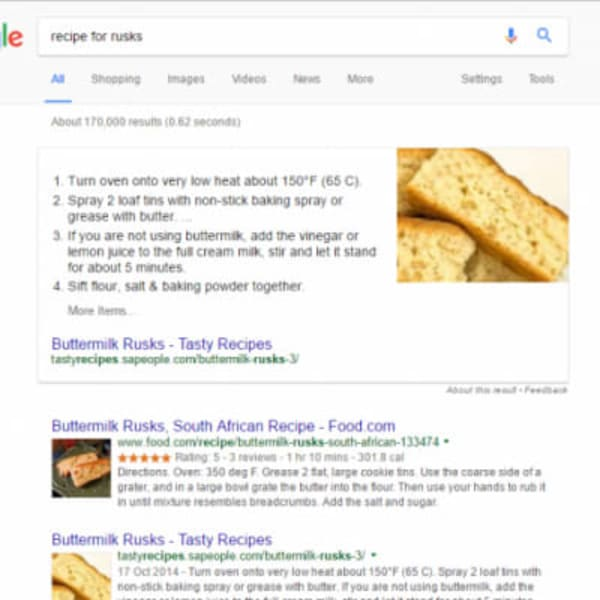 Recipe for rusks direct answers