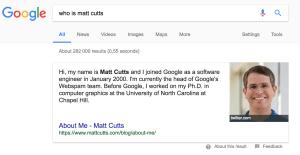 Matt Cutts SERP Screenshot
