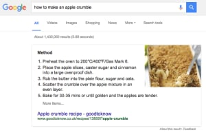 apple crumble search results