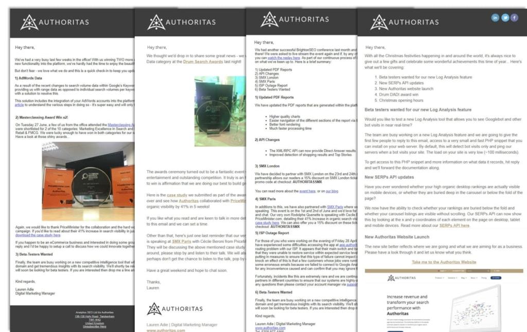 Authoritas newsletters