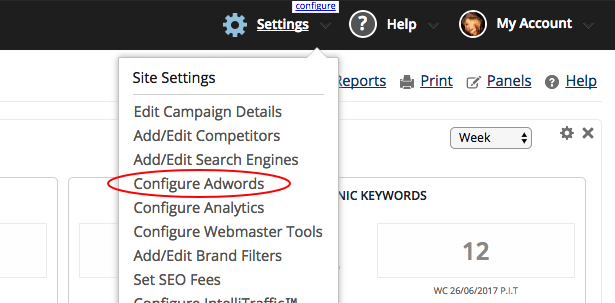 Configure AdWords