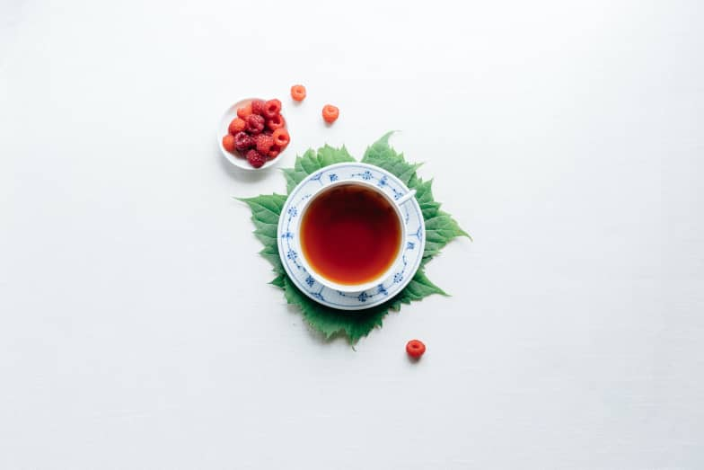 Image for Tea Time SEO, cup with berry juice
