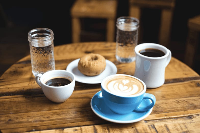 Competitor audit - cuts of coffee on a table