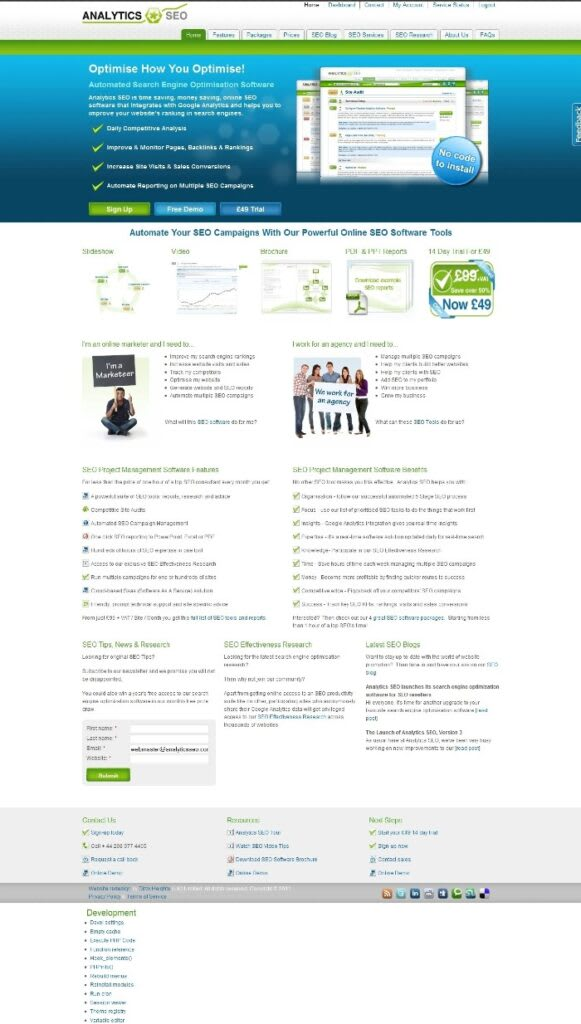 AnalyticsSEO platform