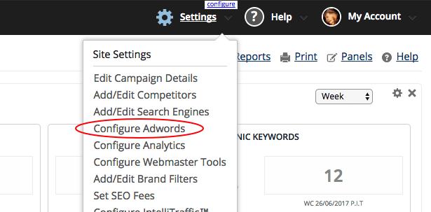 Configure AdWords