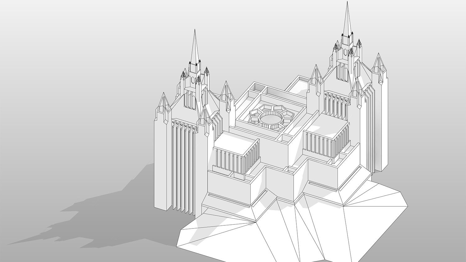 Revit Temple from above
