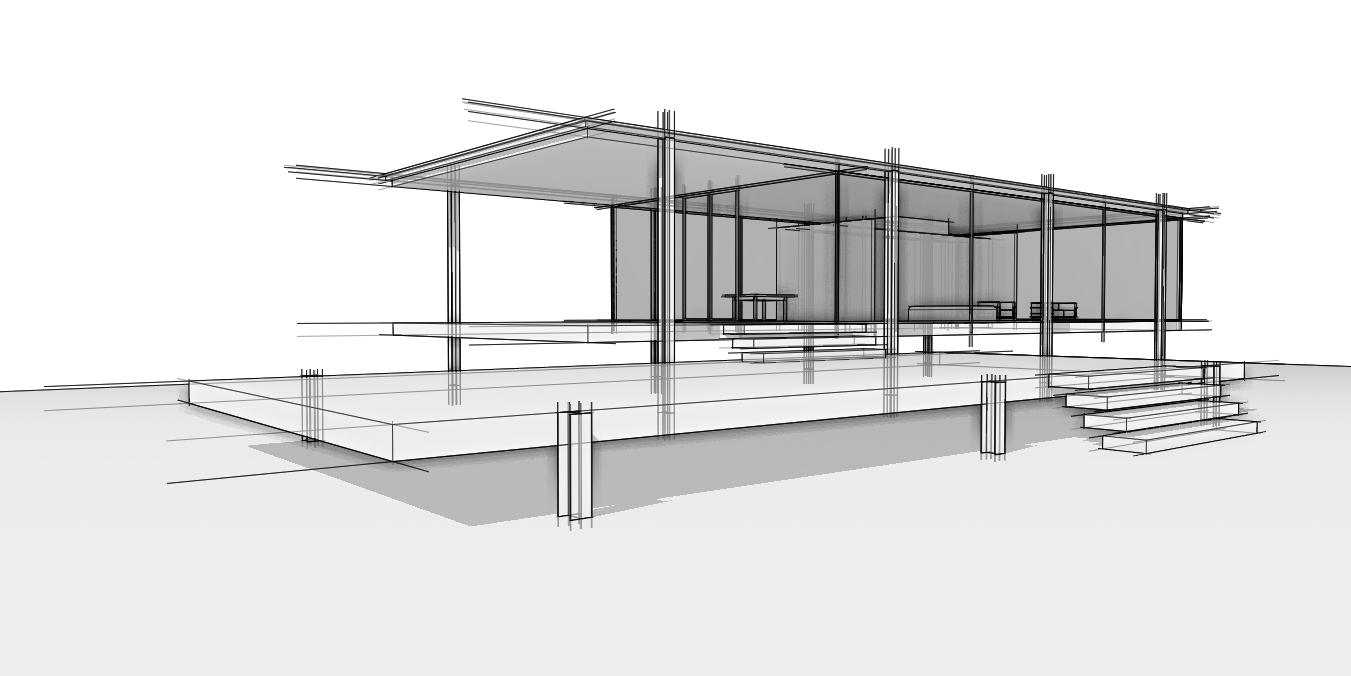 Farnsworth House Perspective