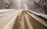 slush-covered road