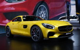 <p>The all-new Mercedes-AMG GT and GT S coupes, officially unveiled last month, made their public debut in Paris. Their long-hood, short-deck styling continues the profile of the SLS and the original SL, without the gull-wing doors, and their bodyshell is constructed almost totally of aluminum. Under the hood there's an all-new, 4.0 litre twin-turbocharged V-8, with the turbos mounted in the engine's vee. The GT version is rated at 462 horsepower and the GT S at 510 horsepower. Expected to be a direct competitor for the jaguar F-Type and Porsche 911, the GT S will go on sale around May, 2015, with the GT scheduled to arrive later.</p>