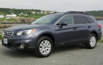 2015 Subaru Outback - front 3/4 view