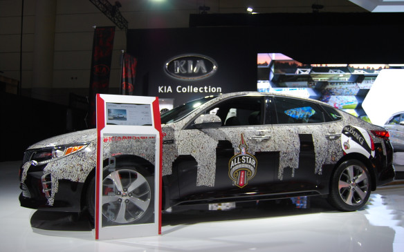 "<p>For those ""sports"" car fans - Kia comes through with ye another vehicle, wrapped in support of the NBA this time. It's fitting, however, since the NBA All-Star game took over downtown Toronto the same week as the show.</p>"