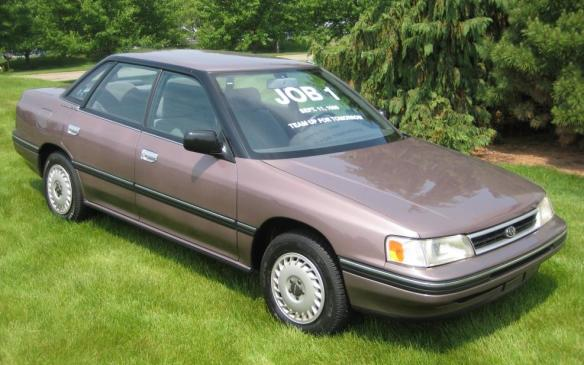 U.S. Subaru Legacy Job 1 - front 3/4 view