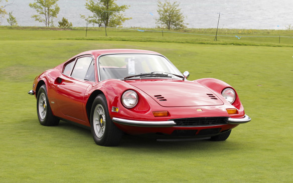 "<p>Winner of the European Sports Car (pre-1973) was this 1972 Ferrari Dino 246GT – the ""baby Ferrari."" Only 2,631 of the V-6-powered, mid-engined GTs, designed by Pininfarina, were built between 1969 and 1973.</p>"