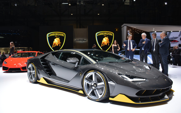 <p>To commemorate the 100th birthday of its late founder Ferrucio Lamborghini, Lamborghini unveiled the limited edition Centenario. There will be only 40 produced at 1.75 million euros a pop. Under the hood of this sensational beast is a naturally-aspirated V-12 engine that churns out 770 horsepower and can go from 0-100 km/h in abut 2.8 seconds. Its body is constructed completely out of carbon fibre.</p>