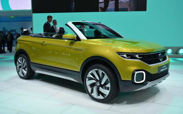 <p>Volkswagen showed off a new compact crossover concept called the T-Cross Breeze, which looks similar to the Range Rover Evoque Convertible and could become its competition down the road. In its press release, Volkswagen hinted at a new SUV model series, so we could be seeing the design language of those upcoming vehicles in the T-Cross. Under the hood is a 1.0-litre turbocharged three-cylinder engine with 109 horsepower and 129 lb-ft of torque.</p>