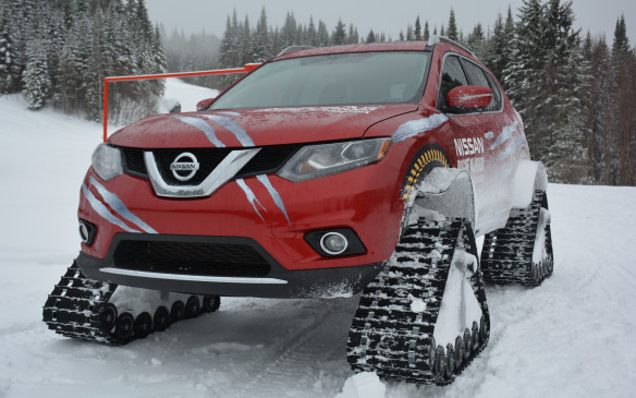 <p>The Nissan Rogue Warrior is a rugged variation of the Rogue crossover that can conquer otherwise unconquerable weather conditions in its path. It's not a production piece that you will see on the road or at a ski chalet, but a prototype that sits on heavy duty snow tracks to showcase the innovation and creativity of Nissan Canada. The best part about it is that it's not just a trailer-queen concept, but something that can actually do what it says it can do.</p>
