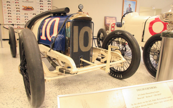 <p>This 1914 Duesenberg race car was one of two entered in that year's Indianapolis 500, One of Duesenberg's drivers was Eddie Rickenbacker, who finished 10th in that race but won a 300-miler at Sioux City, Iowa later that year. He went on to become Americas most famous WWI flying ace and in 1927 he bought the Indianapolis Motor Speedway, which he operated until it was closed for WWII. will be part of an Indy car exhibit at the 2016 Canadian International Auto Show.This car will be part of an Indy car exhibit at the 2016 Canadian International Auto Show.</p> <p></p> <p></p> <p>went on to become a World War 1 flying ace </p> <p></p> <p></p>