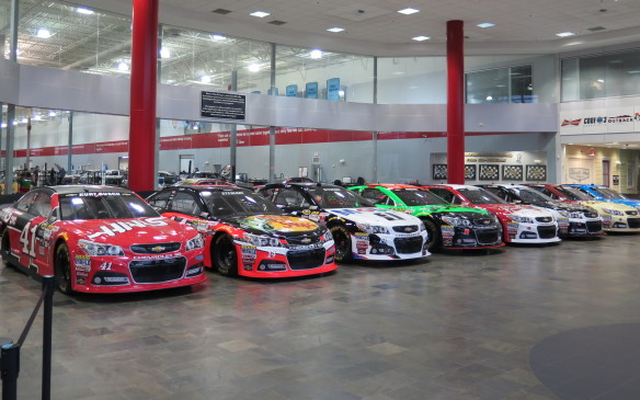 The super sophisticated race shops of nascar s top teams are in stark