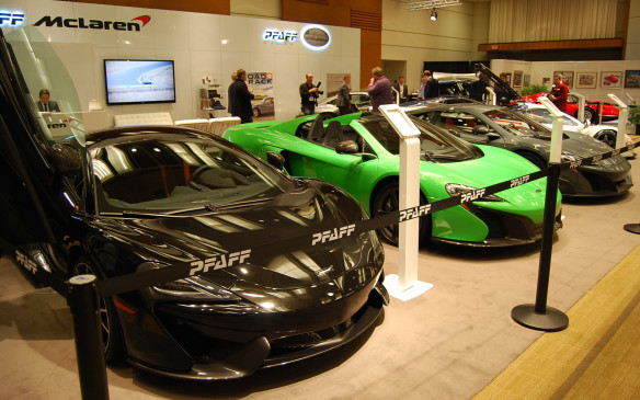 <p>The show always showcases the real exotics downstairs in the North Building. You can find McLaren, Lamborghini, Porsche, Tesla and many other exotic brands on display there.  Of course you can't get up as close and personal with these models as you can with some of the other vehicles on display.Look but don't touch!</p>
