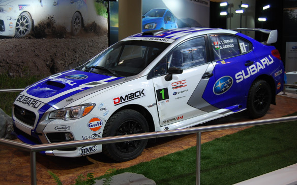 <p>A few manufacturers who put something different in their exhibit to attract auto sports patrons, and Subaru Canada is one of them. Fresh off Rallye Perce-Neige 2016, their factory team rally car is on display, minus a few bumps, scrapes and bruises.  </p>
