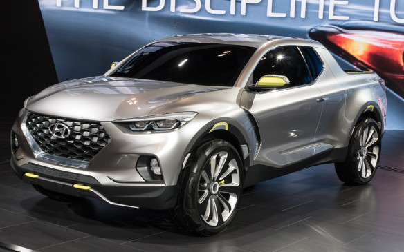 <p>The Hyundai Santa Cruz Concept is expected to start production at some point in 2017. It's powered by a 2.0-litre turbo-diesel engine that produces 190 horsepower and 300 lb.-ft. of torque. Its most impressive feature might be an expected combined fuel economy of 7.8L/100 km.</p>