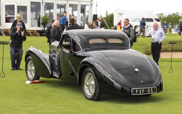 "<p>Another crowd favourite, this1937 Bugatti Type 57C Coupe was awarded by the judges as the ""Outstanding – Pre-War"" vehicle. Designed by Jean Bugatti, son of company founder Ettore Bugatti, the art deco masterpiece is one of just 17 such coupes built between 1936 and 1940.</p>"