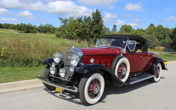 <p>Here's another look at that 1931 Cadillac, a model 370A V-12 Roadster. Cadillac built cars with the V-12engine from 1931 until 1937. Only 91 V-12 roadsters were built in 1931 and this is the 29<sup>th</sup> in that series – one of only 12 known to exist today. It features a body built by Fleetwood rather than by Fisher, which built most of the closed-Cadillac bodies.</p>