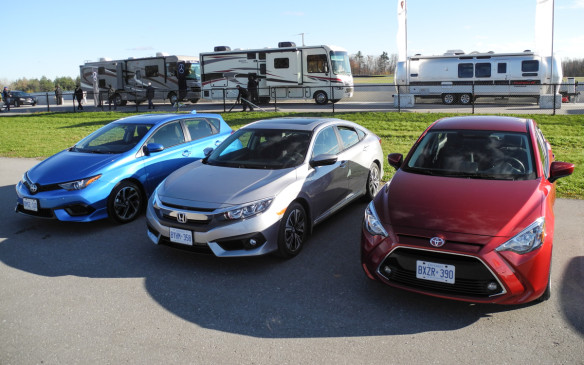 2016 Scion iM, Honda Civic, Toyota Yaris