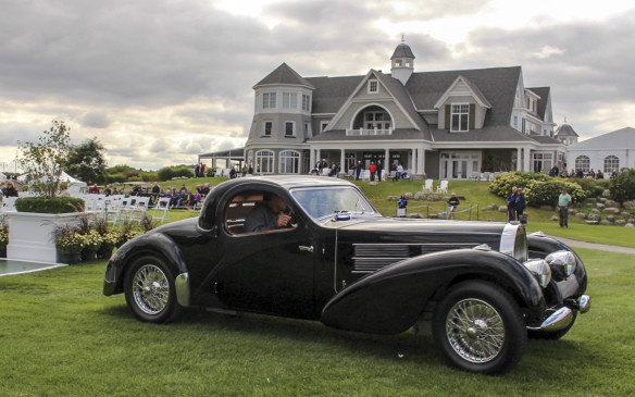 <p>The third annual Cobble Beach Concours d'Elegance, Canada's most prestigious classic car show, took place on September 13, 2015 at the bucolic Cobble Beach Golf Resort Community on the shores of Georgian Bay – a setting worthy of the spectacular cars that took part, such as this rare 1937 Bugatti Type 57C Coupe.</p>