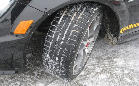 """<p>The No. 1 factor in making winter driving safer is ensuring your vehicle is fitted with winter tires. Tires designed for winter use – and appropriately marked with the tire industry's """"snowflake and mountain"""" logo – deliver far superior traction and control, compared to the all-season tires typically fitted on vehicles by the manufacturer. The rubber in all-season tires hardens at around 7<sup>o</sup> Celsius, losing the ability to grip, while winter tires are designed to maintain their adhesion capabilities to minus-30<sup> o</sup> C or more. The all-seasons become hard like a hockey puck while the winter tires continue to stick to the road surface, whether it's clear or covered in snow and/or ice.</p>"""