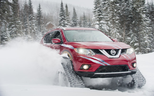 <p>Nissan's funky Rogue Warrior swaps wheels for snow tracks.   </p> <p>Words and pictures by David Miller</p>