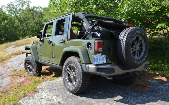 <p>The Wrangler won't be the smoothest ride; it can be quite the opposite of smooth with plenty of noise, a bouncy cockpit that can swing you from side-to-side, and a jiggly gear shift if you opt for the manual six-speed. But it's loaded with character as well as that legendary off-road capability. Under the hood is a more than capable 3.6-litre V-6 that produces 285 horses and 260 lb-ft of torque.</p>