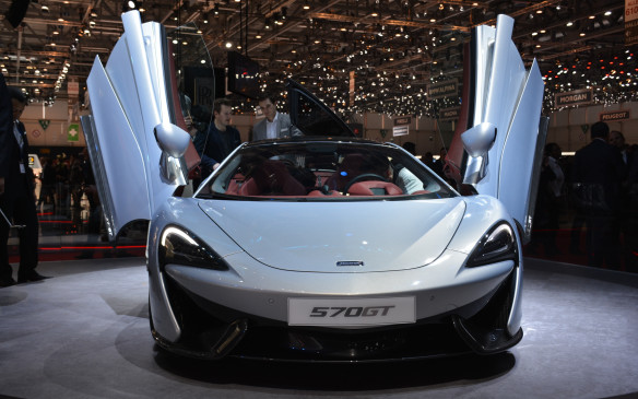 <p>If you're looking for a supercar with luggage space, perhaps the McLaren 570GT will appeal to you. Yes, it still has the same 562-horsepower twin-turbocharged V-8 engine inside as the 570S, but McLaren has softened its suspension, lowered the volume on its exhaust, replaced carbon-ceramic brakes with quieter versions and made it more user friendly to travel with via a secondary glass-covered trunk storage area found above the mid-mounted engine.</p>