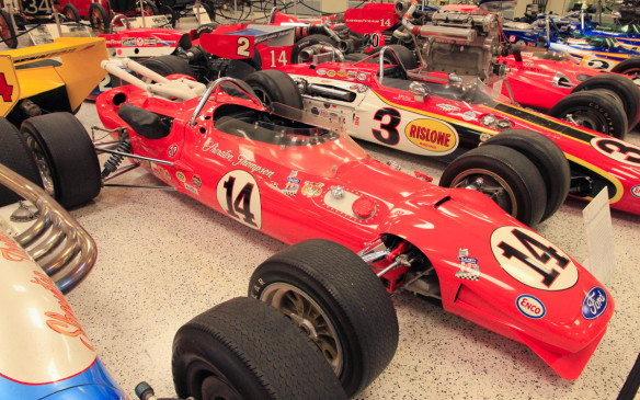 <p>Another famous name in Indy car racing is A.J. Foyt, one of just three drivers, along with Al Unser (Sr.) and Rick Mears, to have won the 500 four times. He drove this Coyote-Ford to his third victory in 1967. The car behind is the 1968 race-winning Eagle-Offenhauser, driven by Bobby Unser, which will be part of an Indy car exhibit at the 2016 Canadian International Auto Show.</p>