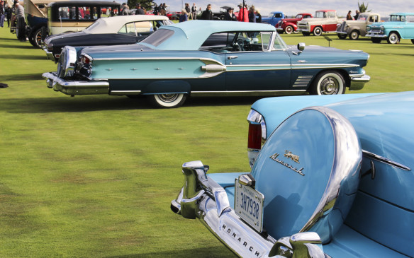 "<p>The McLaughlin-Buick wasn't the only Canadian car in the Concours. There were two classes specifically for cars that were ""Canadian Engineered or Built."" This 1958 Pontiac Parisienne exemplified such models of the post-war period.</p>"