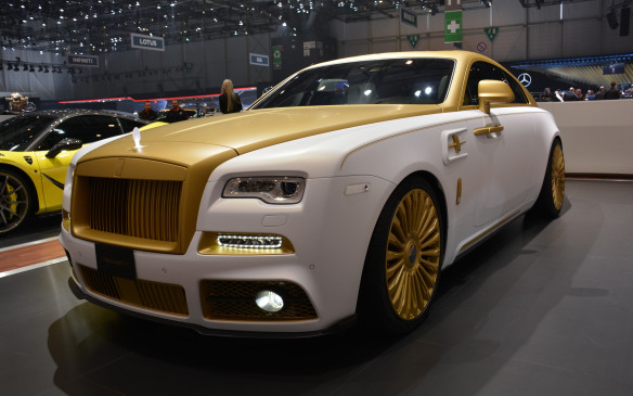 <p>At Geneva, there are plenty of companies that specialize in modification. The German-brand Mansory is one of the best with an Aventador, AMG GT and a 4XX Siracusa on-hand in its exhibit. But the one that was most polarizing was its gold-coloured Rolls-Royce Wraith Palm Edition 999. Only nine will be created and the Rolls-Royce badging has been replaced with Palm Edition ID. This looks like a car we might see in a Bond movie or maybe its funny movie spoof: Austin Powers in Goldmember.</p>