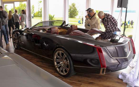 <p>As presenting sponsor of the 2015 Cobble Beach Concours d'Elegance, Cadillac had several of its V-Series cars on hand for people to test-drive and a lounge on the show field where this Ciel concept car and a 1953 Le Mans concept were on display.</p>