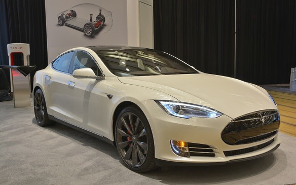 <p></p> <p>Exotic in a different sense than most of the other cars in the exhibit, the Tesla Model S is to date the most visible electric vehicle on our roads. Being popular doesn't by any means take away from this impressive machine. The all-electric, all-wheel drive Model S P90D pictured here is best known for its 3.0-second 0-to-60 mph (100 km/h) time running on a mode Tesla call 'Ludicrous'.</p>