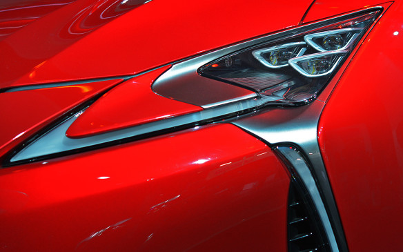 <p>It's not hard to see that these lamps belong to a vehicle with sporting aspirations. When it comes to market in 2017, the Lexus LC500 will be powered by a 467 horsepower 5.0L V-8 and promises a 0-100 km/h time of less than five seconds.</p>