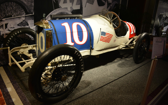 <p>The 1914 Duesenberg was piloted by star driver Eddie Rickenbacker, who might not have won the Indianapolis 500, but scored other race victories during the 1914 season. Rickenbacker later became America's most famous World War 1 flying ace and later still the owner of the Indianapolis Motor Speedway. The Duesenbergs became better known later for their premium production cars of the 20s and 30s, but this race car provides a nice reminder of where they got started.</p>